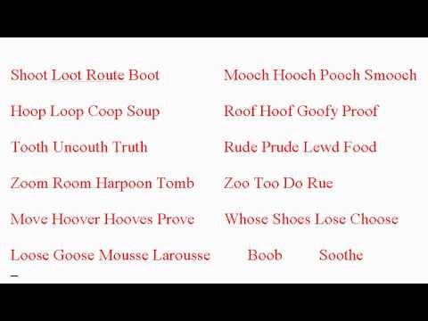 uː - Examples of the uː sound as in boot  - ESL British English Pronunciation