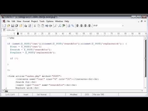 Beginner PHP Tutorial - 55 - Creating a Find and Replace Application Part 2