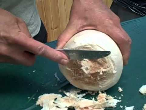 How to Open a Young Thai Coconut with a Butter Knife
