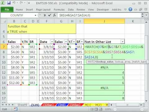 Excel Magic Trick 539: Extract New Records Not In Old List  -- Filter Method