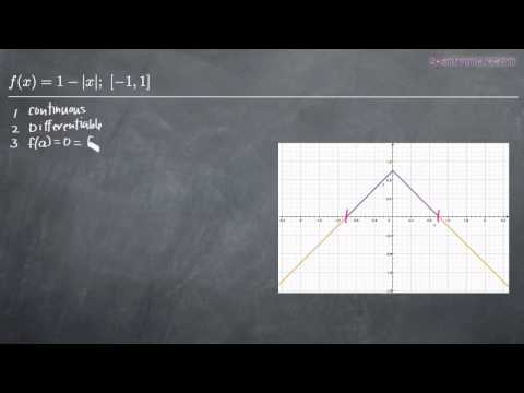 Rolle's Theorem Example 3