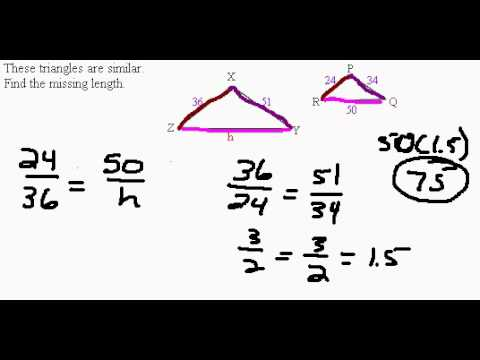 Solving Similiar Triangles and Proportions