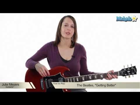 "How to Play ""Getting Better"" by The Beatles on Guitar (Practice Video)"