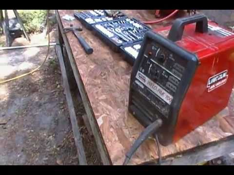 Welding with a Lincoln Mig Welder: A necessary prepping skill and lawn mower repair.
