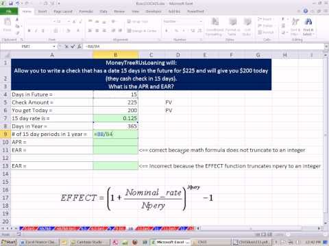 Excel Finance Class 28: Relationship Between APR, Period Rate and Effective Annual Rate