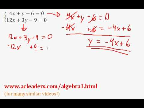 System of Equations - NUMBER OF SOLUTIONS. EASY!!!! (pt. 5)