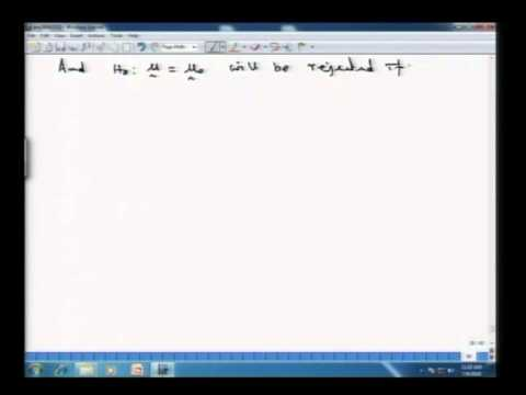 Mod-01 Lec-15 Hotelling's T2 distribution and Profile analysis