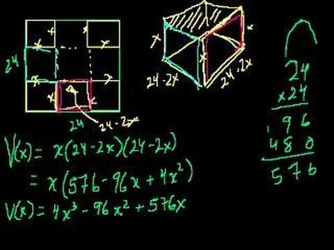 Optimization with Calculus 2