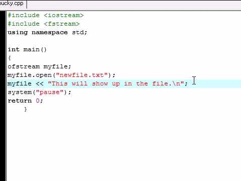 C++ Tutorial - 23 - Writing on Files