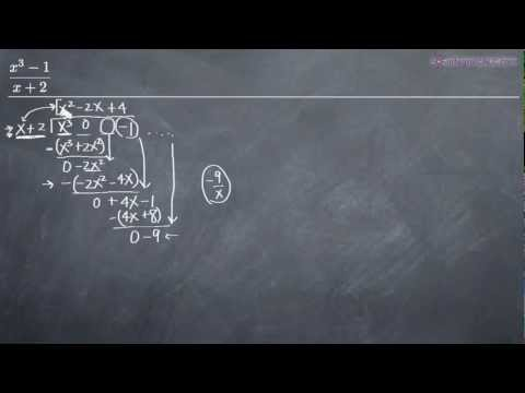 Long Division of Polynomials Example 2