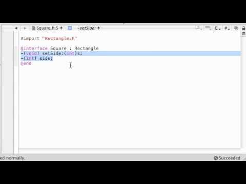 Objective C Programming Tutorial - 33 - Making steve the Square