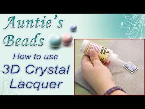 Karla Kam - How To Use 3D Crystal Lacquer