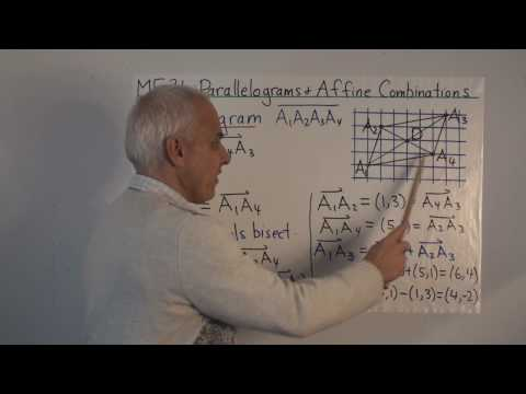 MF31: Parallelograms and affine combinations