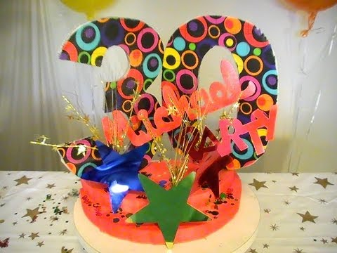 Styrofoam Centerpieces DIY Birthday Centerpiece Ideas - styrofoam letters and numbers