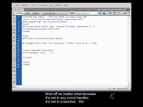 Beginner's Javascript Closed Captioned - Event Handlers Part 2