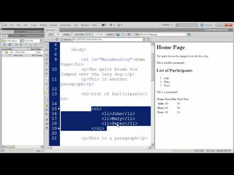 Fundamentals of HTML in Dreamweaver CS5 - Part 5