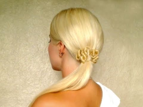 Hair tutorial for long hair Cute ponytail hairstyle without heat Quick elegant look autumn 2011