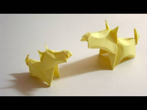 Origami Dog (Little Terrier) - Cachorro de Origami (Little Terrier)