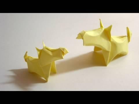 Origami Dog (Little Terrier) - Cachorro de Origami (Little Terrier)
