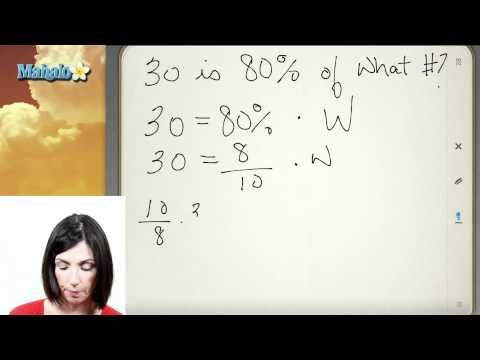 Translating Percentage Word Problems (ex.2)