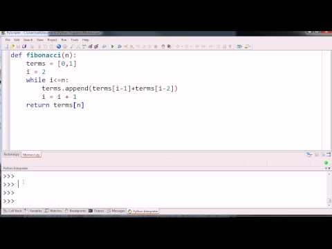 Iterative Fibonacci Function Example