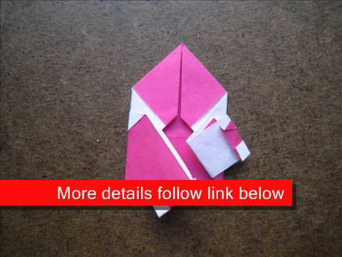 How to Fold Origami Easy Santa - OrigamiInstruction.com