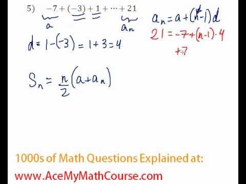 Arithmetic Series - Find the Sum #5