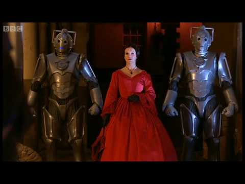 Miss Hartigan confronts the Doctor and Rosita. - Doctor Who: The Next Doctor - BBC