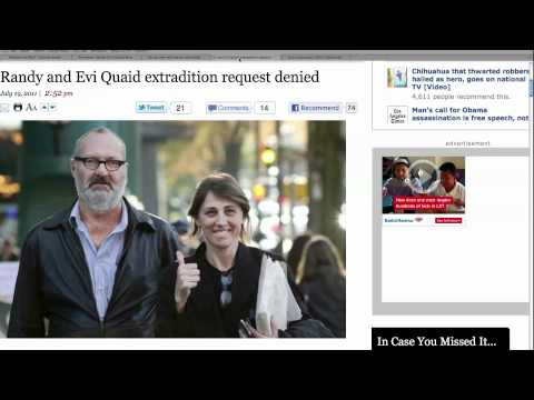 Outlaw Randy Quaid Safe in Canada