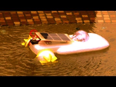 Hybrid Solar-Battery Powered Engine Boat