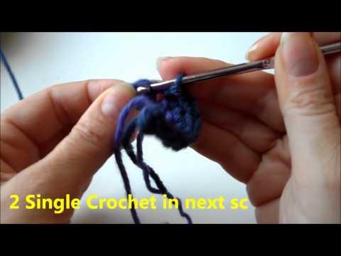 Easy Crochet Rainbow using Chain and Single Crochet