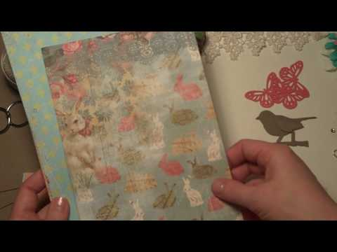 Vintage Easter Flip Envelope MIni Album Kit