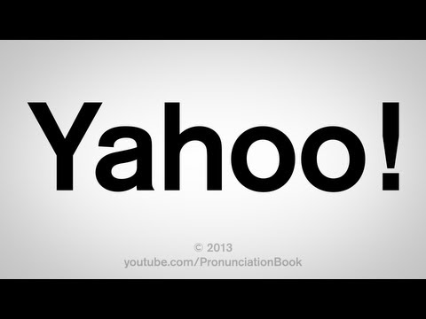 How to Pronounce Yahoo