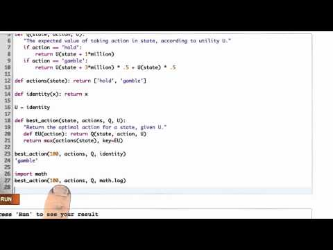 Game Theory Solution - CS212 Unit 5 - Udacity