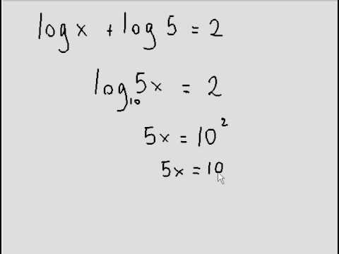 Solving simple log equation