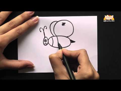 How to Draw  A Cartoon Bumble Bee