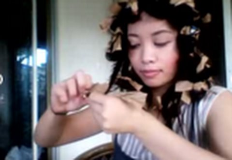 Paper Bag Curls Tutorial : No Heat