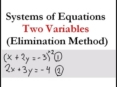 Systems of Equations - 2 variables (elimination)