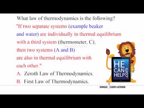 [MM 2200] TEST + A [Zeroth Law] Physics Thermodynamics Series 19 of 100 {HECANHELP.COM}