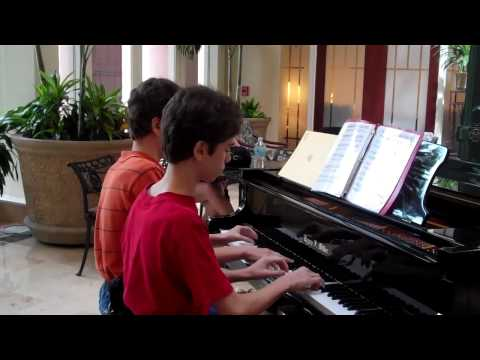 Skylar and Casey's Piano Concert in the Rotary House at MD Anderson
