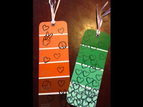 DIY: Paint Chip Bookmarks!