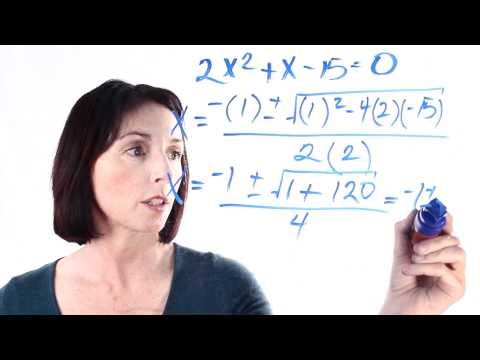 How to Solve Quadratic Equations