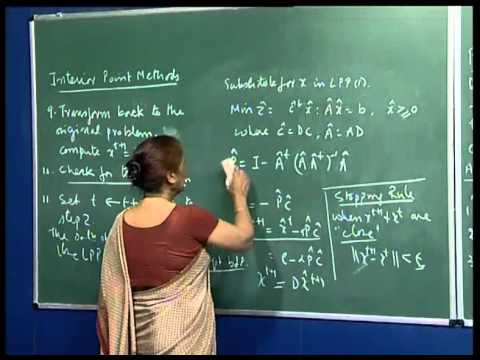 Mod-01 Lec-40 Interior Point Methods