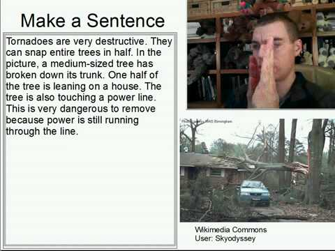 Learn English Make a Sentence and Pronunciation Lesson 93: Tornado Damage
