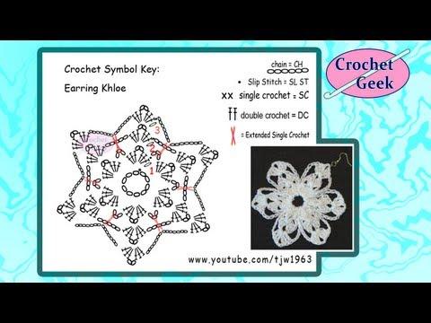 Crochet Geek - Crochet Earring Khloe