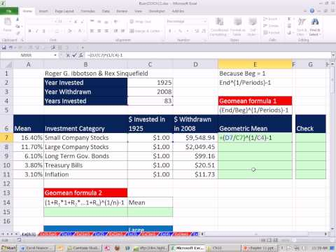 Excel Finance Class 103: 2 Ways To Calculate Geometric Mean