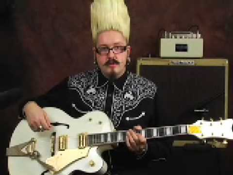 Guitar demo Gretsch White Falcon ala Billy Duffy of The Cult