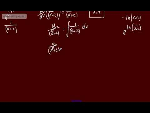 (5) FP2 - First Order Differential equations (Using an integrating factor part 3)