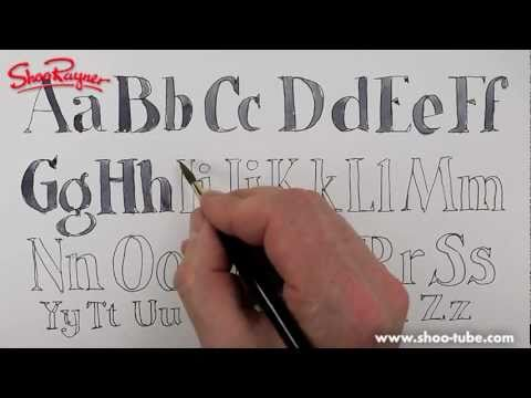 How to draw an alphabet - spoken tutorial