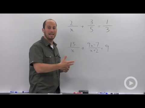 Algebra 2 - Solving a Rational Equation that Results in a Quadratic